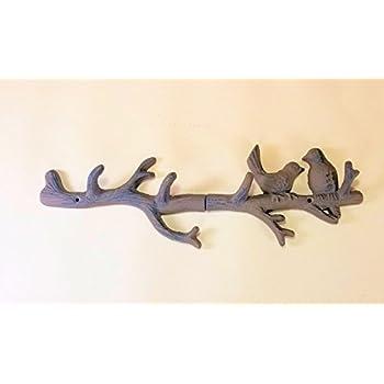 Amazon.com: Pájaros en una rama de hierro fundido llave ...