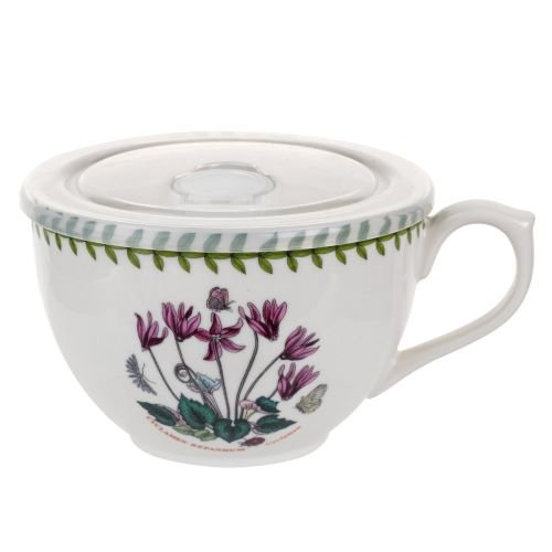 Portmeirion 612648 Botanic Garden Jumbo Cup with Lid, 20Oz, Cyclamen, 20 oz, - Portmeirion Botanic Chip Garden