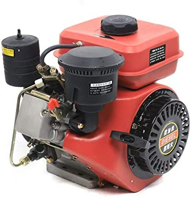 DNYSYSJ Industrial Grade Engine, 196CC 6HP Diesel Engine 4 Stroke Single Cylinder Vertical Engine Air Cooling