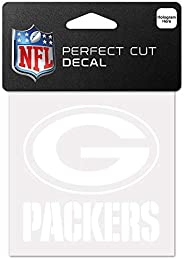WinCraft NFL Green Bay Packers 4x4 Perfect Cut White Decal, One Size, Team Color