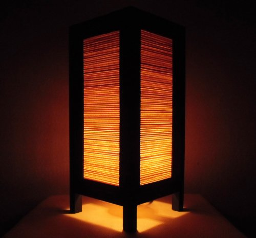 Thai Vintage Handmade ASIAN Oriental Classic Bamboo Art Bedside Table Light or Floor Wood Paper Lamp Shades Home Bedroom Garden Decor Modern Design from Thailand