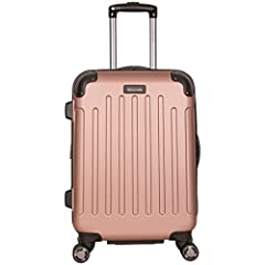 Pack all your travel essentials with ease in this Kenneth Cole Reaction 'Renegade' collection 20-inch lightweight, hardside, expandable 8-wheel spinner carry-on suitcase. This dependable carry-on suitcase is loaded with amazing features, incl...