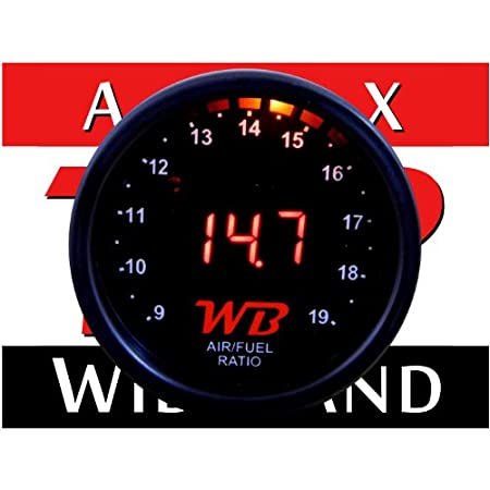 APSX D2 Wideband O2 Air Fuel Ratio Controller All-in-One Gauge (RED)