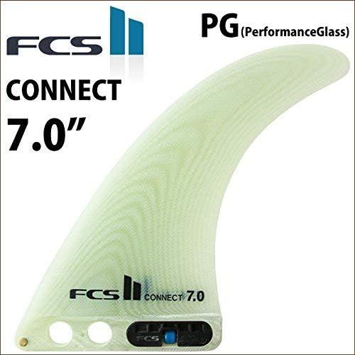日本正規品 ロングボード用センターフィン FCS2 FIN エフシーエス2フィン CONNECT 7.0  PG コネクト パフォーマンスグラス CONNECT-CLEAR