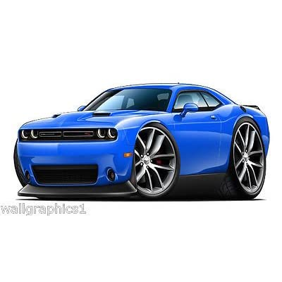 Challenger Dodge Wall Decal 3D Sports Cartoon Car Movable Stickers Vinyl Wall Stickers for Kids Room: Baby