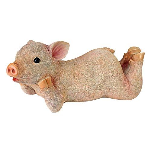 Design Toscano Vogue The Lounging Pig Statue