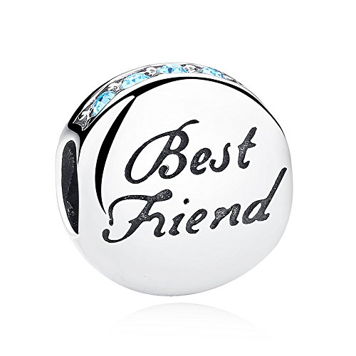 The Kiss Best Friend Forever Friendship 925 Sterling Silver Fits European Charm Bracelet (Best Friend)