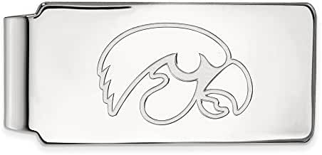 Sterling Silver LogoArt Official Licensed Collegiate University of Iowa (UI) Money Clip