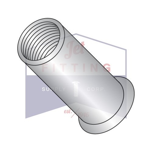 8-32-.080 Small Flange Blind Threaded Inserts (Rivet Nut) | 303 Stainless Steel | Low Profile | Open End | Cleaned and Polished | NON-RIBBED (QUANTITY: 1000) by Jet Fitting & Supply Corp