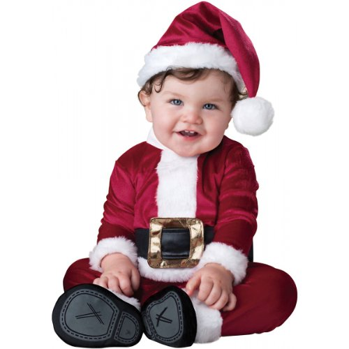 InCharacter Costumes Baby's Baby Santa Costume, Red/White, Small(6-12 Months) ()