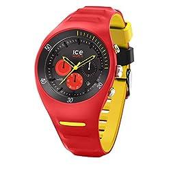 Ice-Watch - P. Leclercq Red - Montre Rouge pour Homme avec Bracelet en Silicone - Chrono - 014950 (Large) 25