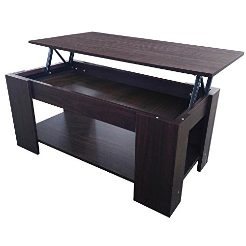 topeakmart lift up top coffee table with under storage ForCoffee Table With Shelf Underneath