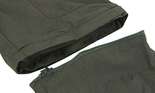 Hombre & Mujer Convertible de secado rápido camisetas y pantalones Casual Women's Bottom Army Green