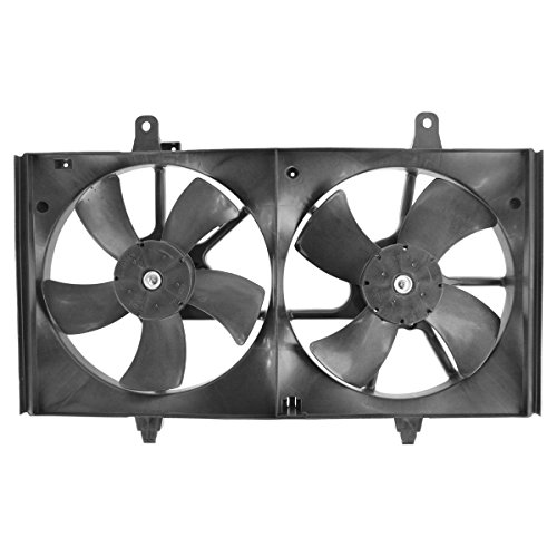 Maxima Radiator Cooling Fan Assembly (Dual Condenser Radiator Cooling Fan for Nissan Altima Maxima)