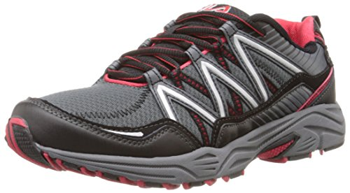 Fila Men's Headway 6 Running Shoe, Castlerock/Black/Fila Red, 10.5 M