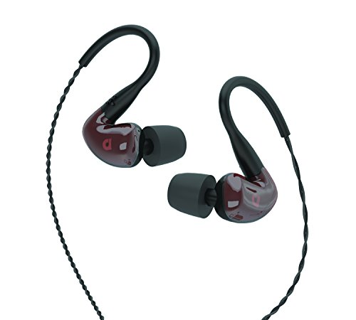 Audiofly AF160 Resin Red 3X Driver in–Ear Monitor Headphones