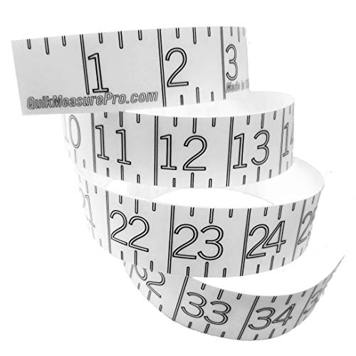 Stickers Measure (Measuring Sticker Fish Ruler - Transparent - Self Adhesive Tape Measure - Clean Design for Fishing Boat, Kayak, Paddleboard, Cooler, Workbench - Clear Waterproof Decal - Made in USA - 36