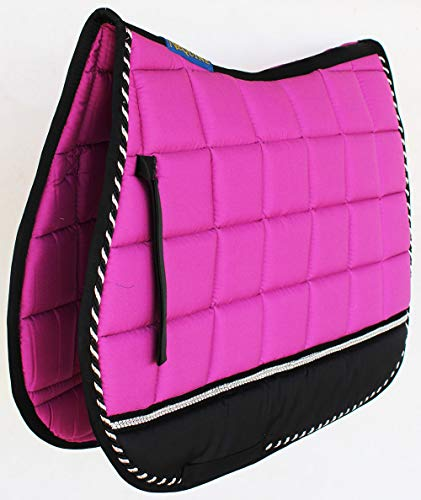 PRORIDER Horse Quilted English Saddle PAD Tack Trail Riding 72F03