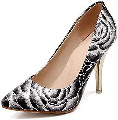 edb65713ebc5e Amazon.com: HuWang Women Stiletto high Heel Shoes Pointed Toe Spring ...