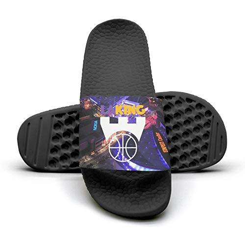 ADIDII Mens Printed Non-Slip B07GX3WV7Y Slides flip Flop Sandals La_Bron_Yellow_Logo_Basketball Summer Indoors Parent B07GX3WV7Y Non-Slip ca2746