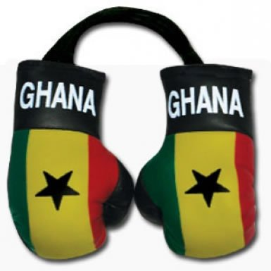 Ghana Flag Mini Boxing Gloves