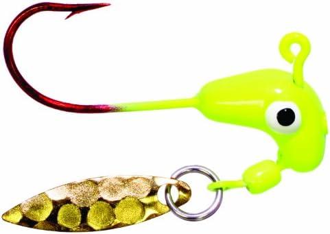 Chartreuse Road Runner Bleeding Bait Barbed Heads w// Sturdy Hooks 1//16oz 5 Pack