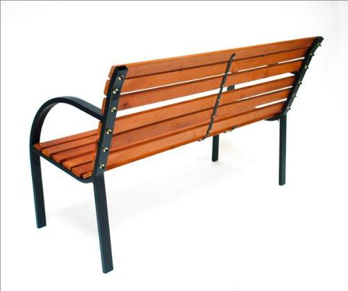 Gartenbank holz metall  Amazon.de: DEMA Parkbank Modern 122 cm Holz/Metall