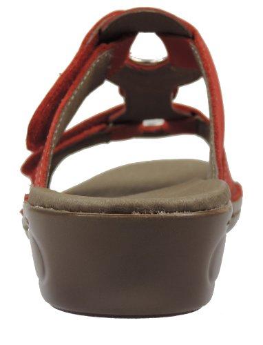 ara 12-37273 - Sandalias de vestir de cuero para mujer rojo - rojo