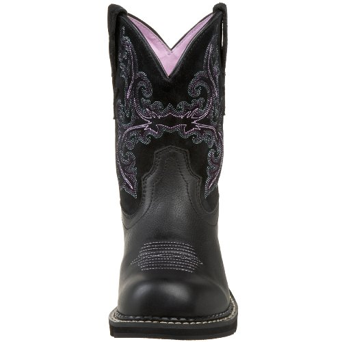 para Boot Fatbaby Negro Deertan II Ariat Orchid Cowboy Western mujer dXICq6wx
