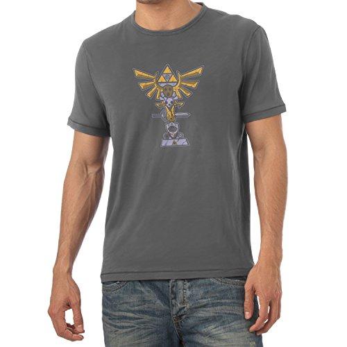 TEXLAB - Triforce Totem - Herren T-Shirt, Größe XL, grau