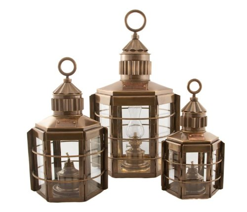 Vermont Lanterns Brass Clipper - Nautical Ship Lamp (13'', Antique Brass)