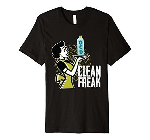 OCD Clean Up Cotton Clean Freak Funny T-Shirt For Men Women ()