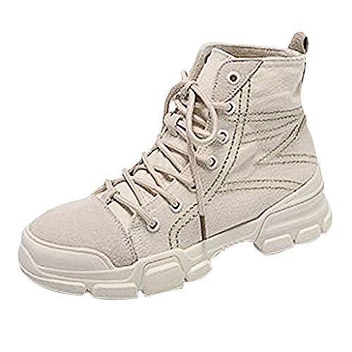 Midress Autumn Fashion Lace-Up Ankle Boots Women's Shoes Fashion Sneakers Ankle Boots Bootie Platform Heel High Top Casual Sports