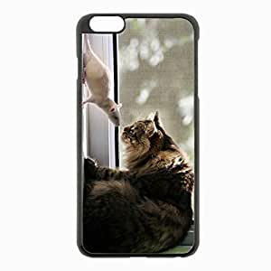 iPhone 6 Plus Black Hardshell Case 5.5inch - window sill familiarity Desin Images Protector Back Cover