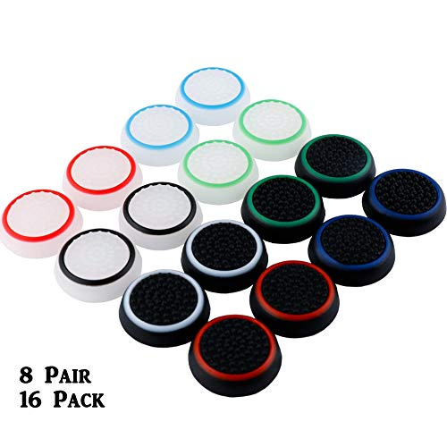 8 Pairs Silicone Thumb Grips Protective...