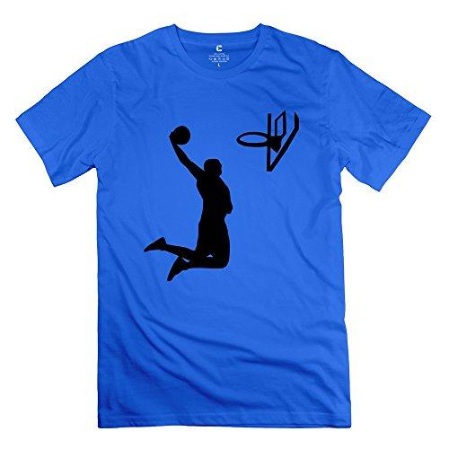 Wei-JR Mens Slam Dunk Tshirts Size XXL RoyalBlue