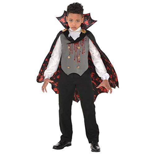 Vampire Costumes Halloween City (Suit Yourself Light-Up Bloody Vampire Costume for Boys, Size Small, Includes a Shirt with a Vest, a Cape, and a)