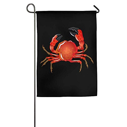 (Dedasf Soft-Shell Crab Garden Flag Indoor & Outdoor Decorative Flags for Parade Sports Game Family Party Wall Banner 12x18 inches)