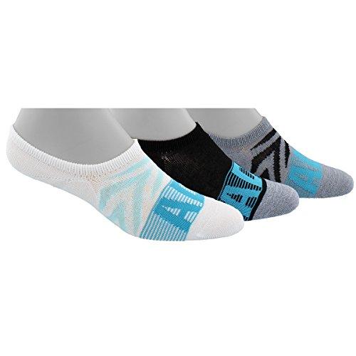 Adidas Womens Golf (adidas Women's Superlite 3-Pack Super No Show Socks, White Print/Black/Grey Clear Onix Marl/Energy Blue/Energy Aqua, Medium)
