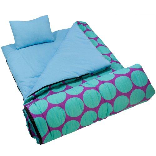 Wildkin Big Dots Aqua Sleeping Bag, Outdoor Stuffs
