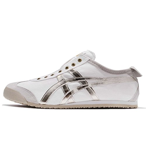 Asics Mens Mexique 66 Emmancher, Blanc / Or, 27 Cm
