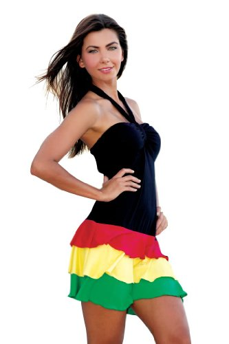Ingear Women Ruffle Bandeau Dress