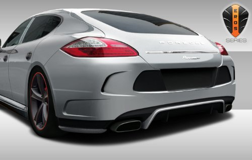 (Duraflex ED-JZG-325 Eros Version 4 Rear Bumper Cover - 1 Piece Body Kit - Compatible For Porsche Panamera 2010-2013)