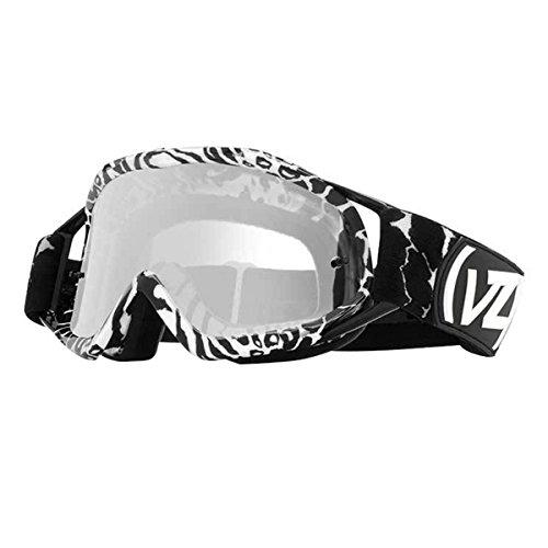 VonZipper Adult MX Bushwick Snow Goggles Eyewear, Party Animals Black Gloss-White / Gray Chrome Lens, One Size Fits - Ski Animal Goggles