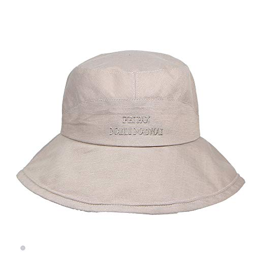 Summer 100% Cotton Stone Washed Packable Outdoor Activities Fishing Bucket Hat-Windproof Fishing Hats UPF50+ Sun Cap