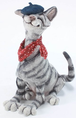 (Retired Country Artists -Cat Wearing Beret - AB70122 - A Breed Apart )