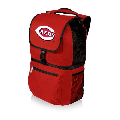 (MLB Cincinnati Reds Zuma Insulated Cooler Backpack, Red)