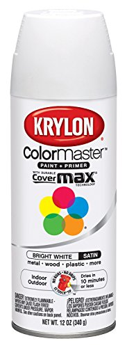 Krylon K05351702 Bright White 'Satin Touch' Decorator Spray Paint - 12 oz. ()