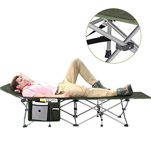 KingCamp Folding Camping Bed - Deluxe Collapsible Camping Cot for Indoor & Outdoor Use-Double Layer 1200D Oxford Fabric, Ultra Comfortable, Heavy Duty Design Holds Adults & Kids Up to 300 lbs