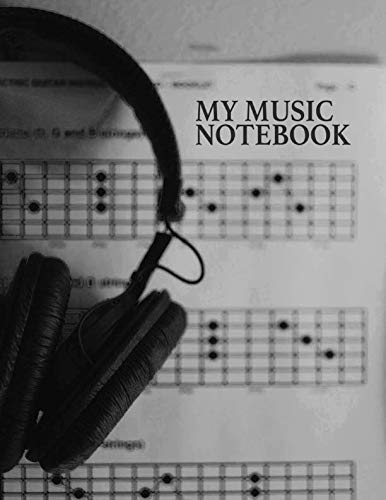 My Music Notebook. Blank Manuscript Paper Staff Paper Journal.